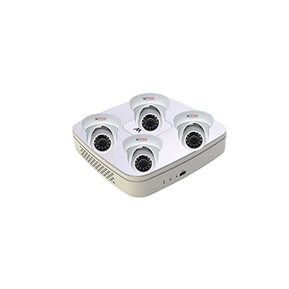 Cp-plus Hdcvi 8 Ch DVR & 4 Dom Ir - 1 Mega Pixels CCTV Camera Surveillance System