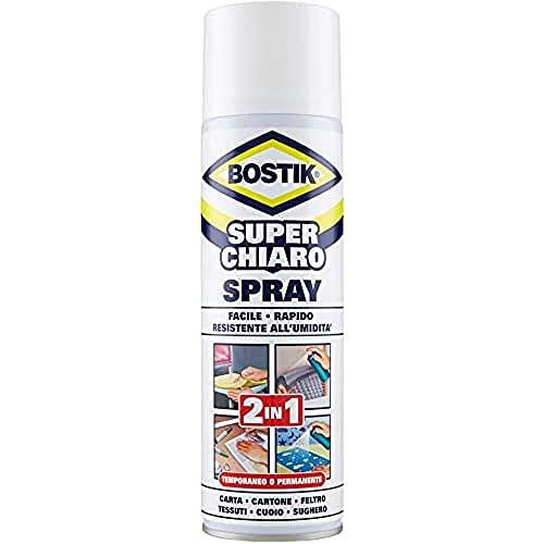 Bostik 3240060 Colla a Contatto Spray, Trasparente
