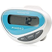 PINGKO LCD Display Outdoor Step Distance Calorie Counter Walking Fitness Multifuctional Sports Pedometer - Blue
