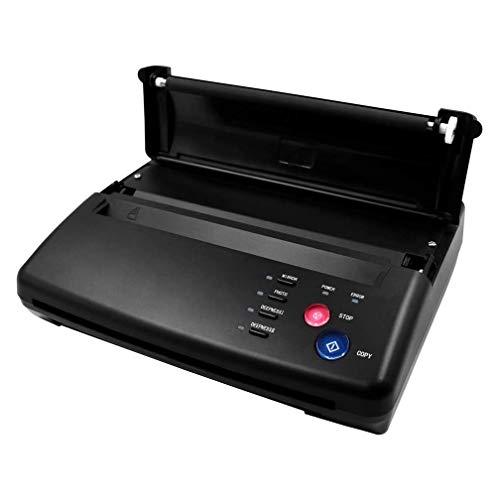 Tattoo Transfer-Maschine, Carbon-Thermal Tattoo Schablone Transferdrucker Kopierer Für Tattoo-Umdruckpapier,Schwarz