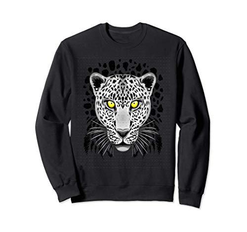 Leopard Cheetah para Hombres Mujeres Nios Grfico con ojos Sudadera