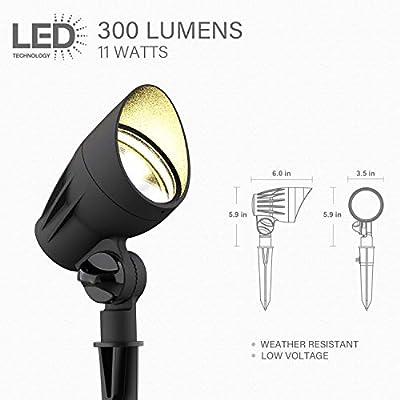 LED Malibu 8401-2650-01 Low Voltage Black Flood Light Super Bright 11watt