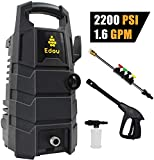 EDOU 2200 Max PSI 1.6 GPM Electric Pressure Washer,Including Power Washer Gun,Nozzles,High Pressure Hose