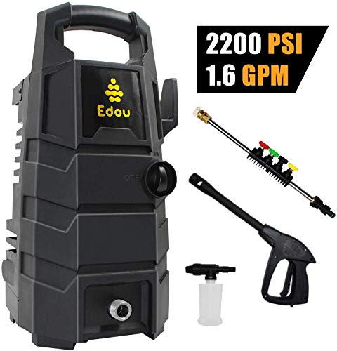 For Sale! EDOU 2200 Max PSI 1.6 GPM Electric Pressure Washer,Including Power Washer Gun,Nozzles,High...