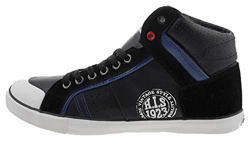 H.I.S Herren Damen Sneaker Winterschuhe Halbschuh schwarz Black Größe 43
