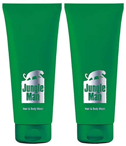 1a LR 3433 Dusch-Set (2) JUNGLE MAN Duschgel - Haar- & Körper-Shampoo - Hair & Body Wash --- 2x 200ml