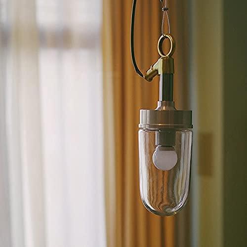 Colgante de cristal Botella de cristal Chandelier de la vendimia Industria Steampunk y Electricidad Techo Colgante Luz Luz Rural Casa Rural Gancho Náutico Cojín de cobre Aima Fío de pared para la cama