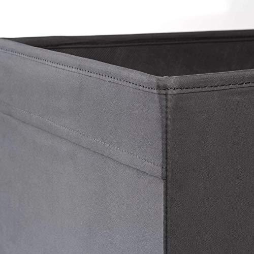 Ikea Regalfach DRÖNA Aufbewahrungsbox Regaleinsatz in 33x38x33 cm (BxTxH) -GRAU, Plastik, Black, 33 x 38 x 33 cm
