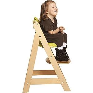 roba Treppenhochstuhl Sit Up III, mitwachsender Hochstuhl vom Babyhochstuhl bis zum Jugendstuhl, Holz, naturfarben
