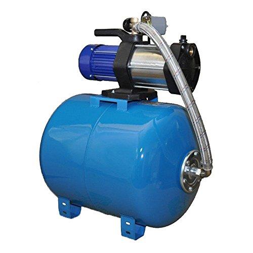 Pompe à eau MULTI 1300 INOX, POMPE DE JARDIN, 1300 W, 5400 l/h, 230V, 5,4 m3/h + ballon 80 L
