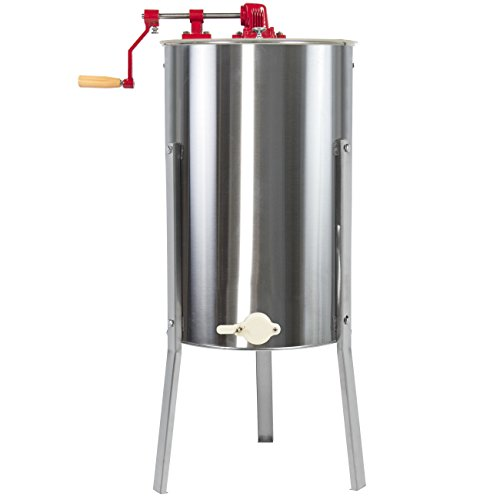 Best Choice Products 2 Frame Stainless Steel Large Honey Extractor Beekeeping Equipment - Silver