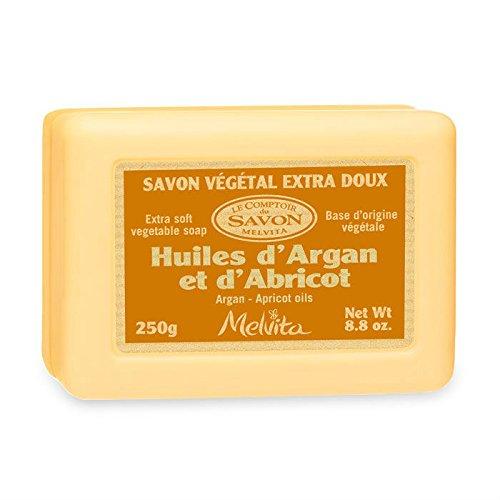 MELVITA - Savon Rectangulaire Argan-Abricot