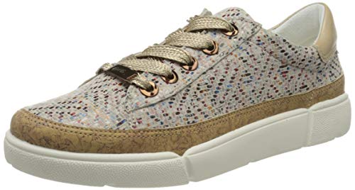 ara Damen ROM Sneaker, Mehrfarbig (Natur, Multi/Lehm 25), 37.5 EU(4.5 UK)