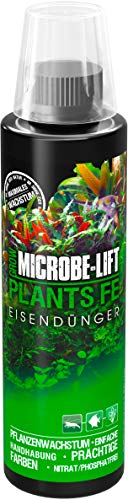 MICROBE-LIFT Plants FE Eisendünger – Aquarium Eisenvolldünger, speziell für Wasserpflanzen entwickelt, optimale Versorgung für Pflanzen, 236 ml