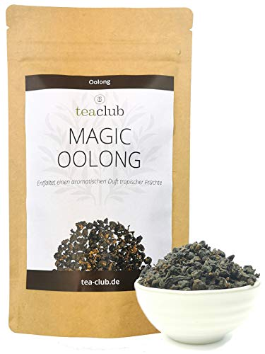 Oolong Tee Taiwan 100g, Oolongtee Formosa Magic Oolong, Halbfermentierter Schwarzer Tee, TeaClub Black Tea
