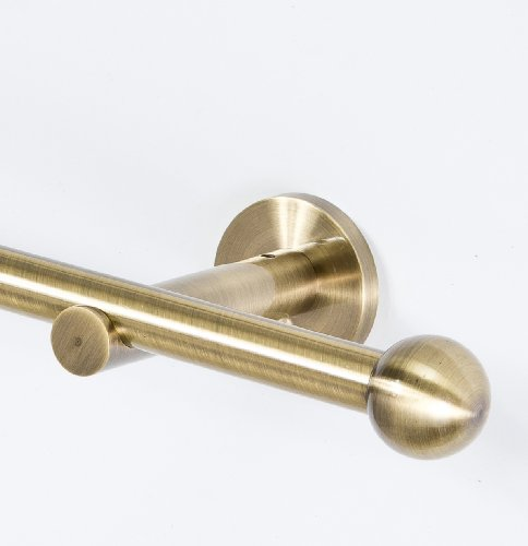 Endstücke für 16 mm Gardinenstangen 2 Stück Antik-Gold (TYP 5)
