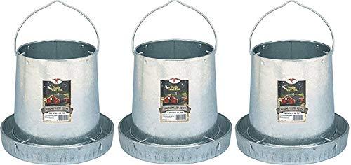 LITTLE GIANT Miller 9112 12lb. Galvanized Hanging Poultry Feeder (3-(Pack))