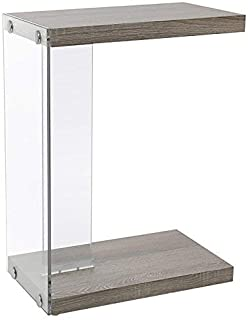 Monarch Specialties I 3217 Tempered Glass Accent Table, 19