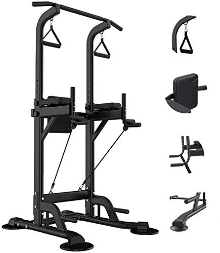 PCAFRS Multifunction Power Tower, Adjustable Height Dip Station, Dip Stand Chin Up Bar, Dip Stand for Home Gym Strength Training Workout Exercise Fitness