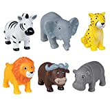 cama24com Safari Tiere Wasserspritztiere 6 Stück Poolspielzeug Badewannenspielzeug mit Palandi...