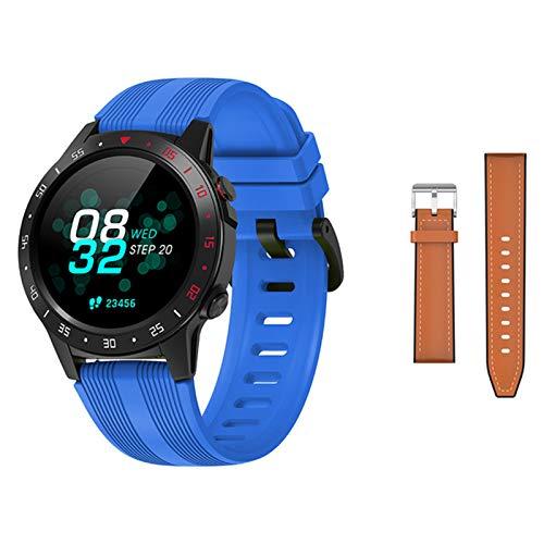 QLK Nuevo GPS Smart Watch Hombres Y Mujeres M5 Sportswatch para Smartwatch para Android iOS Monitor De Frecuencia Cardíaca Impermeable Presión Arterial,D