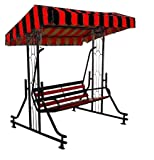 OUTDOOR TERRACE BALCONY SWING. 100 % ORIGINAL PRODUCT. 350 KG. WEIGHT CAPACITY. HIGH QUALITY STEEL & ROOF, HIGH STRENGHT. FILL GRATE AND MORE RELAXATION.