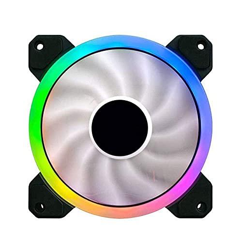 FHDFH Ventilador de enfriamiento del chasis principal del ventilador del chasis de la sincronización automática 12cm, radiador ultra silencioso de la CPU del chasis del ordenador de la PC