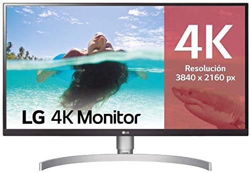 "LG 27UK850-W - Monitor 4K UHD de 68,6 cm (27"") con Panel IPS (3840 x 2160 píxeles, 16:9, 350 cd/m², sRGB >99%, 1000:1, 5 ms, 60 Hz) Color Negro y Blanco"