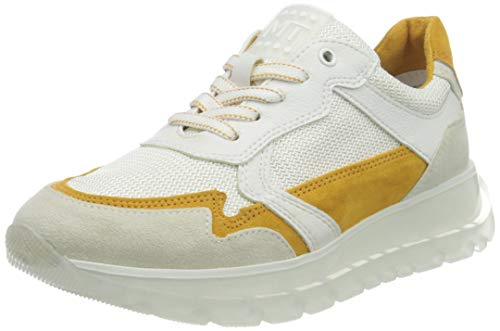 MARCO TOZZI 2-2-23727-26 Damen Sneaker, Zapatillas de Gimnasio Mujer, Color Blanco, 37 EU