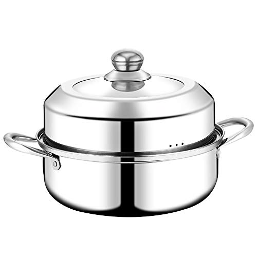 EHLA Edelstahl Gemüse und Fleisch Huhn/Lamm/Rind Dampfgarer Dampf Set Basis belüftete Deckel