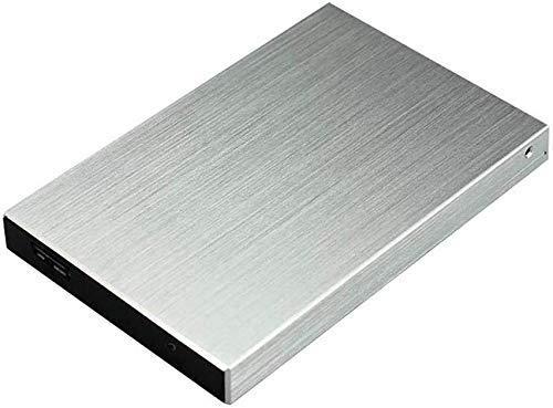 Disque Dur Externe Portable 2 to USB 3.0 - Stockage sur Disque Dur Externe USB 3.0 pour PC, Mac, Ordinateur de Bureau, Ordinateur Portable (2TB, Silver)
