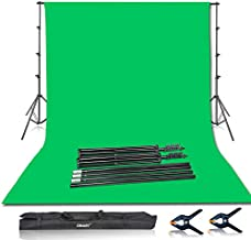 Emart Photo Video Studio 8.5 x 10ft Green Screen Backdrop Stand Kit, Photography Background Support System with 10 x12ft 100% Cotton Muslin Chromakey Backdrop