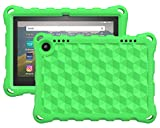 Dadanism EVA Case for All-New Kindle Fire HD 8 Tablet(10th Generation 2020 Release) and Fire HD 8 Plus 2020 Release, Kids-Friendly Shockproof EVA Heavy Duty Bumper Protective Cover for Kids - Green