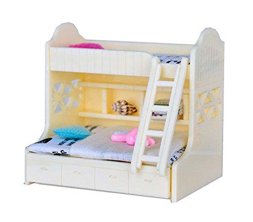 Black Temptation Accesorios de la Escena de los Muebles del Bolsillo de la casa de muñeca de DIY Mini, Cama Amarilla