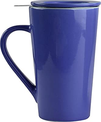 Asobu Tea Time Mug Set a Large 15 Ounce Loose Leaf Tea Stainless Steel Infuser and Porcelain Mug with Saucer