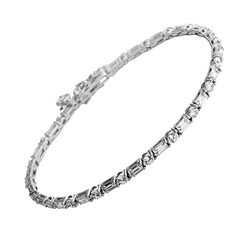Diamonfire Damen-Armband Bridal 925 Silber rhodiniert Zirkonia Brillantschliff weiß 18.5 cm - 64/0442/1/082
