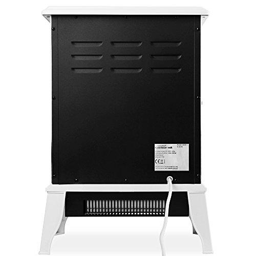 Elektro-Kamin mit Heizung und Kaminfeuer-Effekt weiß - 7