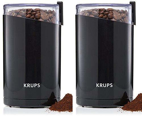 Krups F203Elektrische Gewürz- und Kaffee rkfdxa Mahlwerk mit Edelstahl Klingen, 85G, Schwarz, Blade Grinder (2Stück)