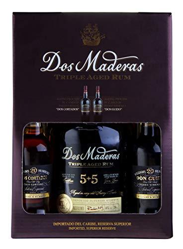 Williams & Humbert DOS MADERAS PX 5YO+5YO Rum im Geschenkset mit 2 Sherrys Spirituose (1 x 0.7 l + 2 x 0.1 l)