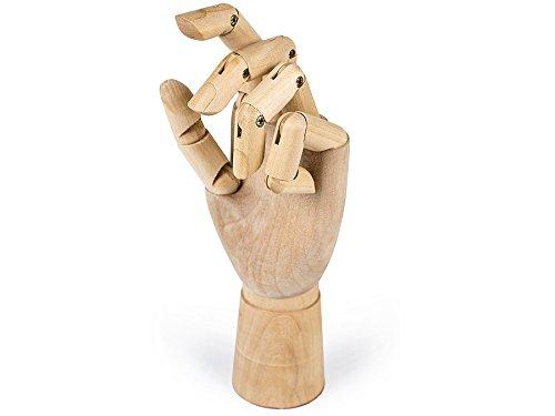 Holzhand - Modellhand aus Holz 25cm - Gliederpuppe beweglich