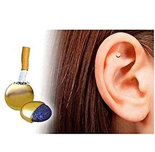 QIAOYING 2PCS Magnetic Therapy Quit Stop Smoking Smoke Magnet Magnetic Therapy Ear Auricular Loss Weight Acupressure
