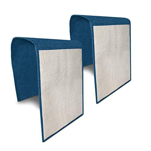 Navaris Set de 2X rascadores para Gatos - Protector de sofá contra arañazos de Gato y Perro - Rascador afilador de uñas de sisal en Azul