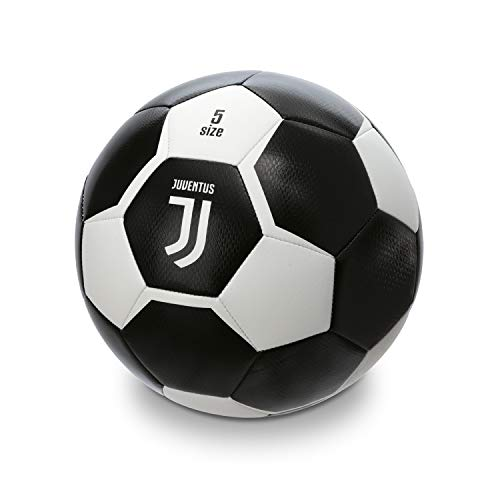 Mondo Sport Pallone da Calcio Cucito F.C. Juventus, Size 5, 410 g, Prodotto Ufficiale, Colore Bianco/Nero, 13640