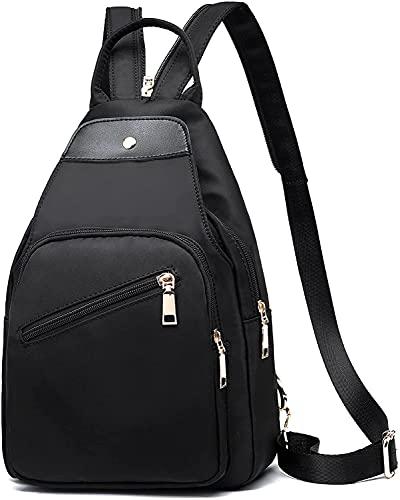 Aina - Mochila pequeña, bolsa de mensajero para estudiantes, mochila pequeña de tela Oxford fresca, bolsa de hombro de moda