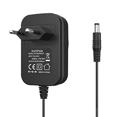 NorthPada 18W 9V 2A Ladekabel Netzteil Ladegerät für Arduino UNO R3 REV 3 / Mega 2560 R3 / Elegoo UNO R3 / IEIK UNO R3 5,5 x 2,1 mm