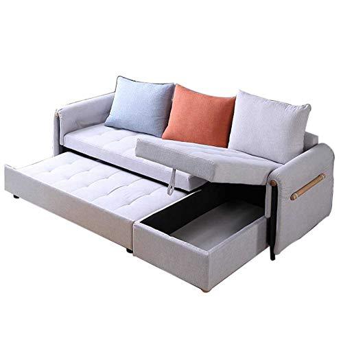 Sofá de esquina convertible Sofá cama - Sofá de lujo con forma de sofá L de lujo con cama de extracción y espacio de almacenamiento grande - Sofá perezoso de protección plegable para sala de estar