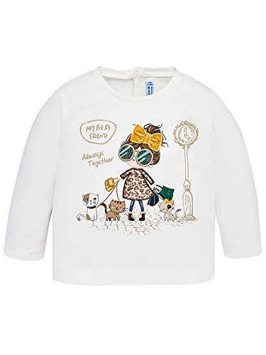 Mayoral Camiseta m/l Bebe Niña Blanca
