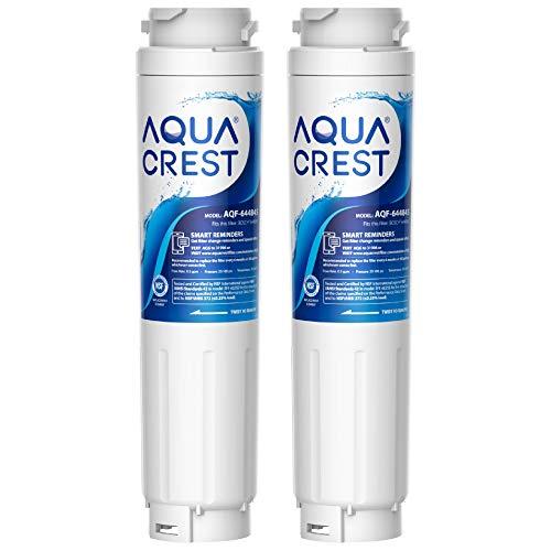 2x AQUACREST Premium 644845 Kühschrank Wasserfilter, Kompatibel mit Bosch UltraClarity 644845, Siemens Neff Gaggenau Miele, 740560, 00740560, 9000194412, Haier 0060820860 0060218743, FFL-110B (2)