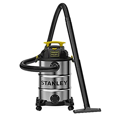 Stanley SL18117 Wet/Dry Vacuum, 8 Gallon, 4 Horsepower, 4.0 HP, Silver