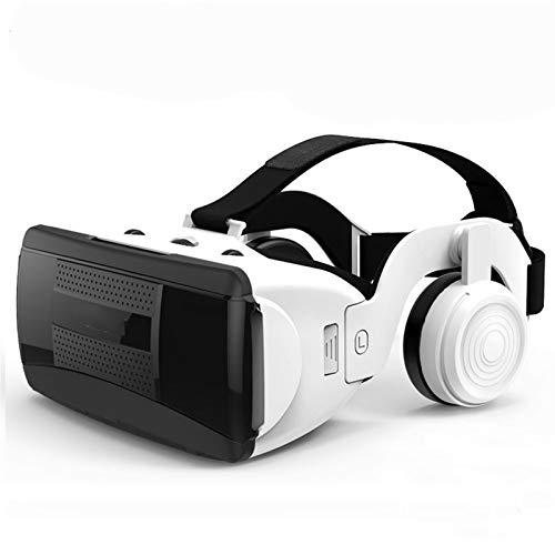 Adesign VR-Headset mit Fernbedienung, HD 3D VR Gläser Virtual Reality Headset für VR-Spiele & 3D-Filme, VR-Headset für iOS/Android-Telefon kompatibel 4-6 Zoll